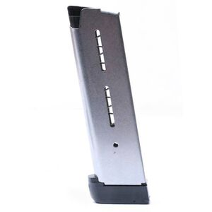Wilson Combat 1911 Full Size Magazine .45 ACP 8 Rounds Extended Plastic Base Pad Stainless Steel 47DE