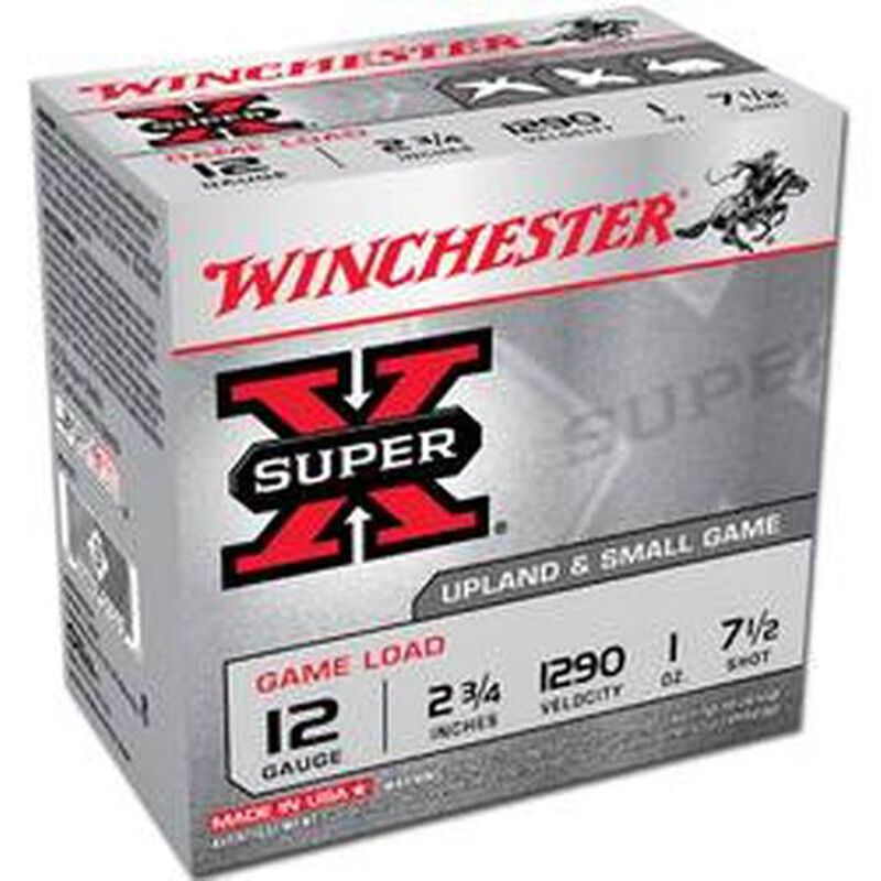 "Winchester Super X 12 Gauge Ammunition 25 Rounds, 2.75"", 1oz. #7"
