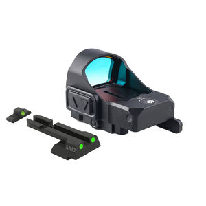 Meprolight MicroRDS Red Dot Micro Sight With Canik TP Quick Detach Adapter and Backup Sights Black