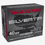 Winchester Silvertip .40 S&W Ammunition 20 Rounds JHP 155 Grains W40SWST
