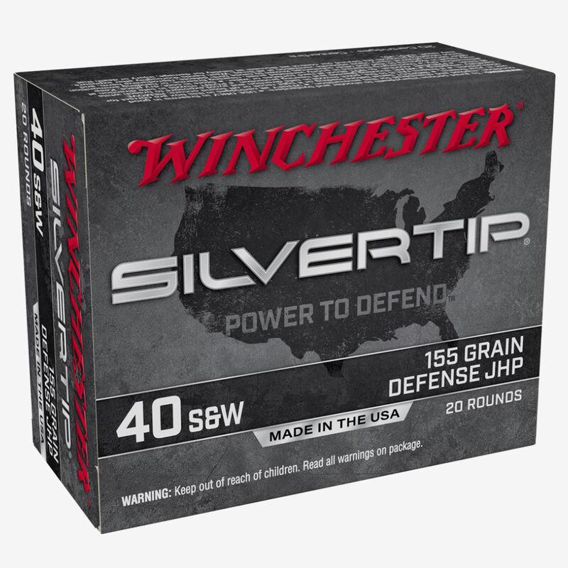 Winchester Silvertip .40 S&W Ammunition 20 Rounds JHP 155 Grains W40SWST