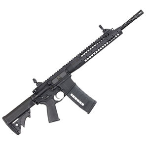 """LWRC Six8-A5 AR-15 Semi Auto Rifle 6.8 Rem SPC 16.1"""" Spiral Fluted Barrel 30 Rounds Backup Iron Sights Collapsible Stock Black"""