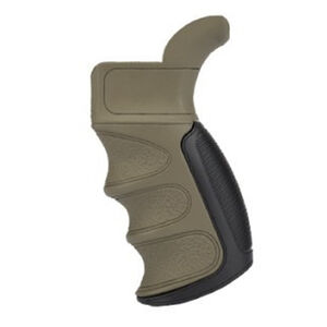Advanced Technology AR-15 X1 Scorpion Recoil Pistol Grip Finger Grooves Polymer Flat Dark Earth