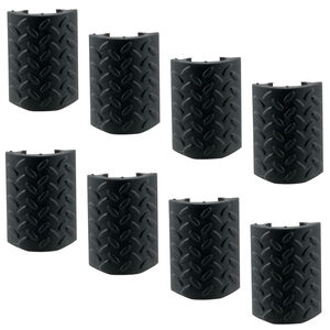 Aim Sports Inc. AR-15 M4 Hand Guard Rail Covers 8 Pack Texture/Pattern Polymer/Rubber Matte Black Finish