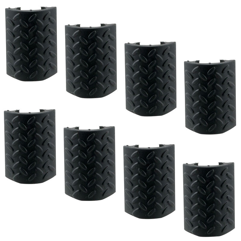 Aim Sports Inc. AR-15 M4 Hand Guard Rail Covers 8 Pack Texture/Pattern Polymer/Rubber Matte Black Finish