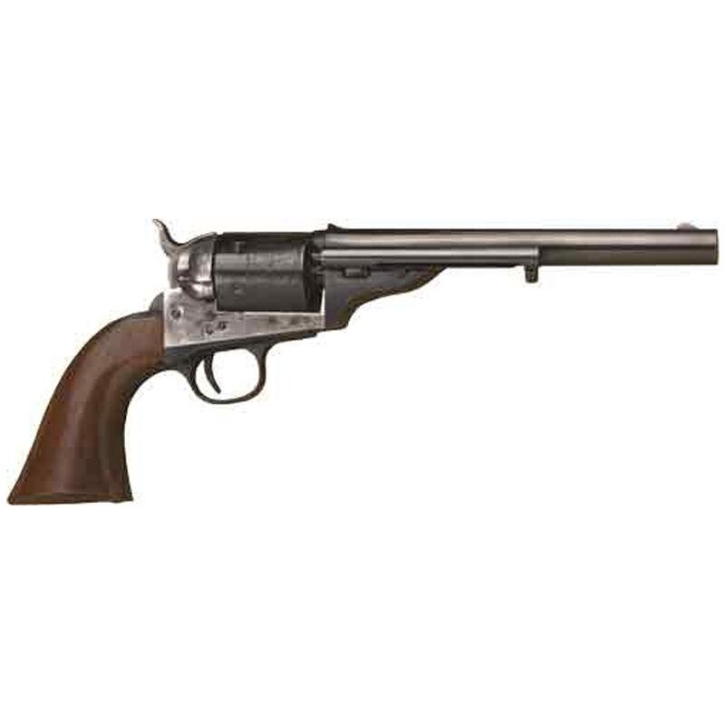 "Cimarron 1872 Open Top Army Revolver .44 Special 7.5"" Barrel 6 Rounds Color Case Hardened Frame Walnut Grip Standard Blue"