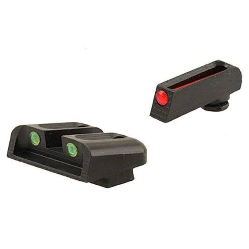 TruGlo Brite-Site Fiber Optic Sight Set for SIG Sauer Models with #6 Front/#8 Rear 3 Dot Sights CNC Machined Steel Housing Matte Black Finish