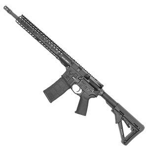 "Stag 15 Tactical Series Left Hand AR-15 Semi Auto Rifle 5.56 NATO 16"" Barrel 30 Rounds 13.5"" M-LOK Slimline Free Float Hand Guard Magpul Stock/Grip Matte Black Finish"
