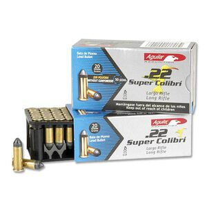 Aguila Super Colibri .22LR Ammunition 20 Grain Conical Bullet Subsonic 590 fps