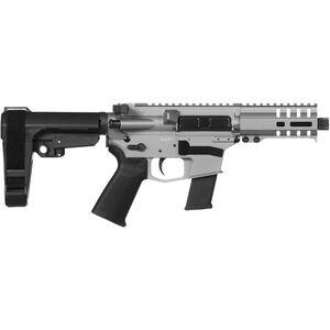 "CMMG Banshee 300 MkG .45 ACP AR-15 Semi Auto Pistol 5"" Barrel 13 Rounds Uses GLOCK Style Magazines RML4 M-LOK Handguard CMMG Micro/CQB RipBrace Titanium Finish"