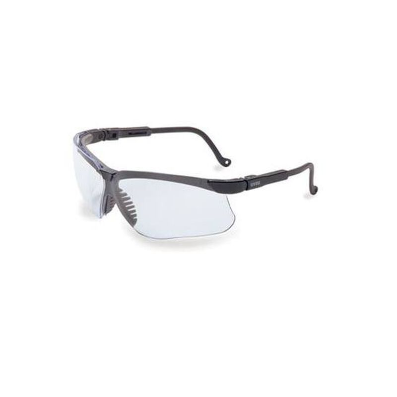 Uvex Genesis Dura Extreme Clear Safety Glasses Spatula Temples Black S3200D