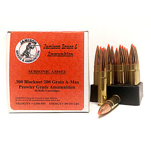 Jamison 300 AAC Blackout 208 Grain A-Max 20 Round Box
