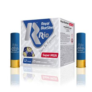 "RIO Ammo Royal BlueSteel Super Magnum 40 12 Gauge Shot Shells 250 Rounds 3 1/2"" 1 3/8 oz #BB Shot"