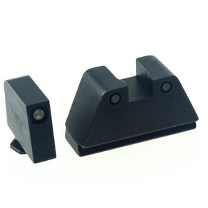 Ameriglo 2XL Tall 3-Dot Sight Set for GLOCK Green Tritium with Black Outline