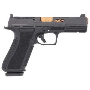 "Shadow Systems DR920 Elite 9mm Luger Semi Automatic Pistol 4.5"" Barrel 17 Rounds Optic Cut Slide Tritium Night Sights Polymer Frame Bronze/Black Finish"
