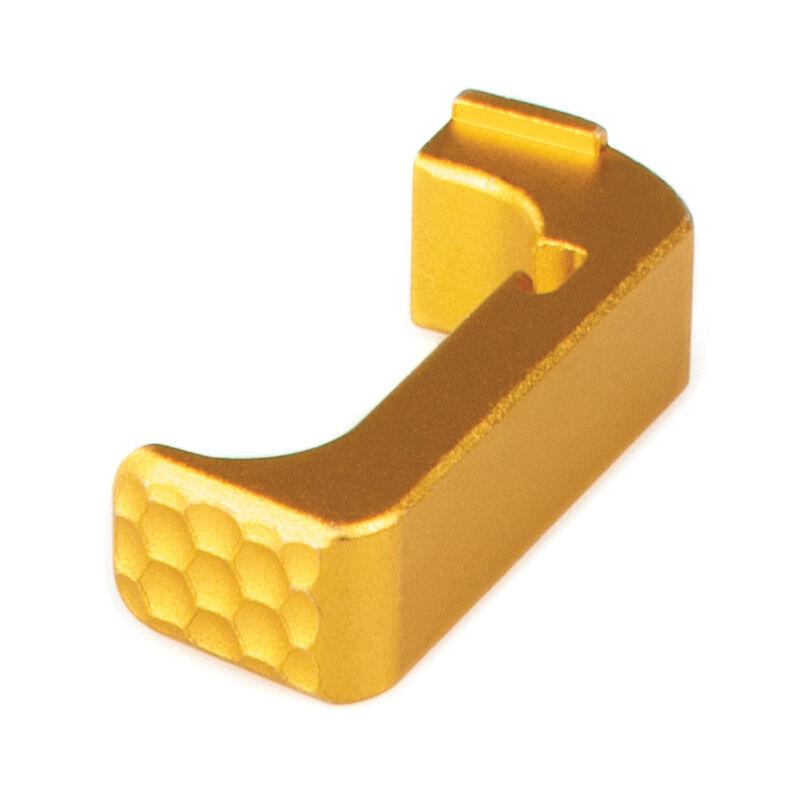 Zev Technologies Extended Magazine Release for Small Frame Gen 4/Gen5 GLOCK  Models Billet 6061 Aluminum Anodized Finish Gold Color