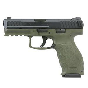 "H&K VP9 9mm Luger Semi Auto Pistol 4.09"" Barrel 10 Rounds Striker Fired 3-Dot Sights Picatinny Rail Black Slide Polymer Frame OD Green Finish"