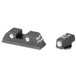 AmeriGlo GLOCK 9mm/.40/.357 Classic 3 Dot Tritium Night Sights Green Front Dot Yellow Rear Dots with White Outlines GL-115