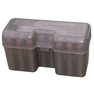 MTM Case-Gard RF22 Series 22 Round Large Magnum Ammunition Box Polypropylene Smoke RF22-LM-41