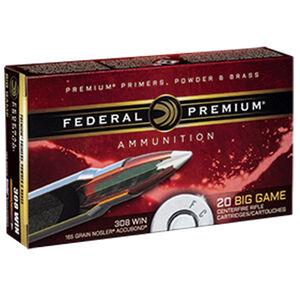 Federal .308 Winchester Ammunition 20 Rounds Nosler Accubond 165 Grains