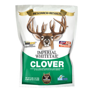 Whitetail Institute Imperial Whitetail Clover for Deer Food Plots 4lbs 1/2 Acre Treatment