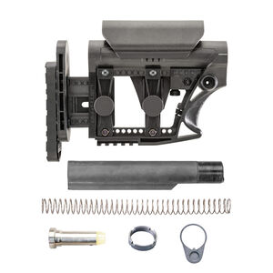Luth-AR LR-308/AR-10 MBA-3 Stock Assembly Mil-Spec Tube .308 Carbine Buffer And Spring Black MBA-3K308-M