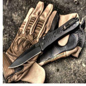"SOG Spec Elite II Auto Folding 4"" Straight Blade Clip Point Hardcased Black Tini AUS 8 Steel Aluminum Handle Matte Black"
