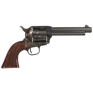"""Taylor's & Co 1873 Gambler .357 Mag Single Action Revolver 5.5"""" Barrel 6 Rounds Checkered Walnut Grip Forged Frame Blued/Case Hardened"""