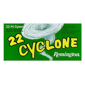 Remington Cyclone .22 LR Ammunition 50 Rounds 36 Grain HP Bullet 1280fps