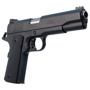 """Ed Brown 18 Special Forces Semi Auto Pistol .45 ACP 5"""" Barrel 7 Rounds Red Fiber Optic Front Sight Chainlink III Treatment Matte Black Finish"""
