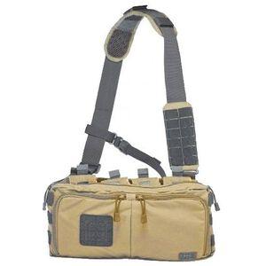 5.11 Tactical 4 Banger Bag Cross Body Strap 1050D Tear Resistant Nylon Sandstone 56181-328