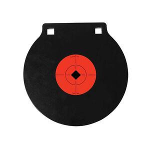 "Birchwood Casey World of Targets AR500 8"" Double Hole Steel Gong 3/8"" AR500 Steel Target Matte Black"