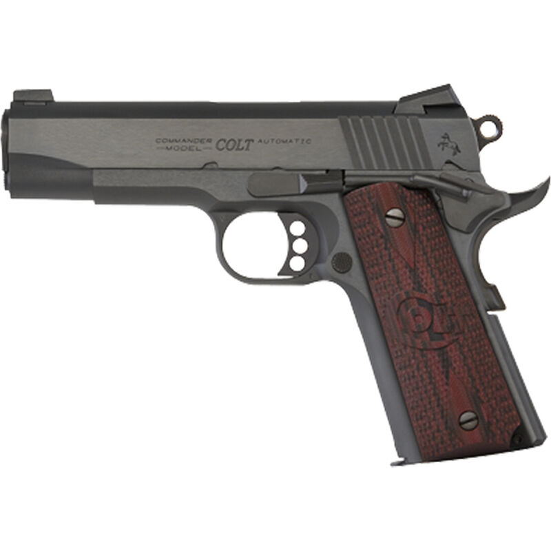 "Colt Combat Commander 1911 9mm Luger Semi Auto Handgun 4.25"" Barrel 9 Rounds G10 Grips Blued Finish"