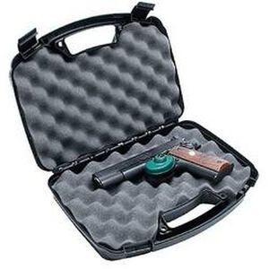 "MTM Case-Gard Single Handgun Hard Case 2 Snap Latches 13"" Plastic Black 807-40"