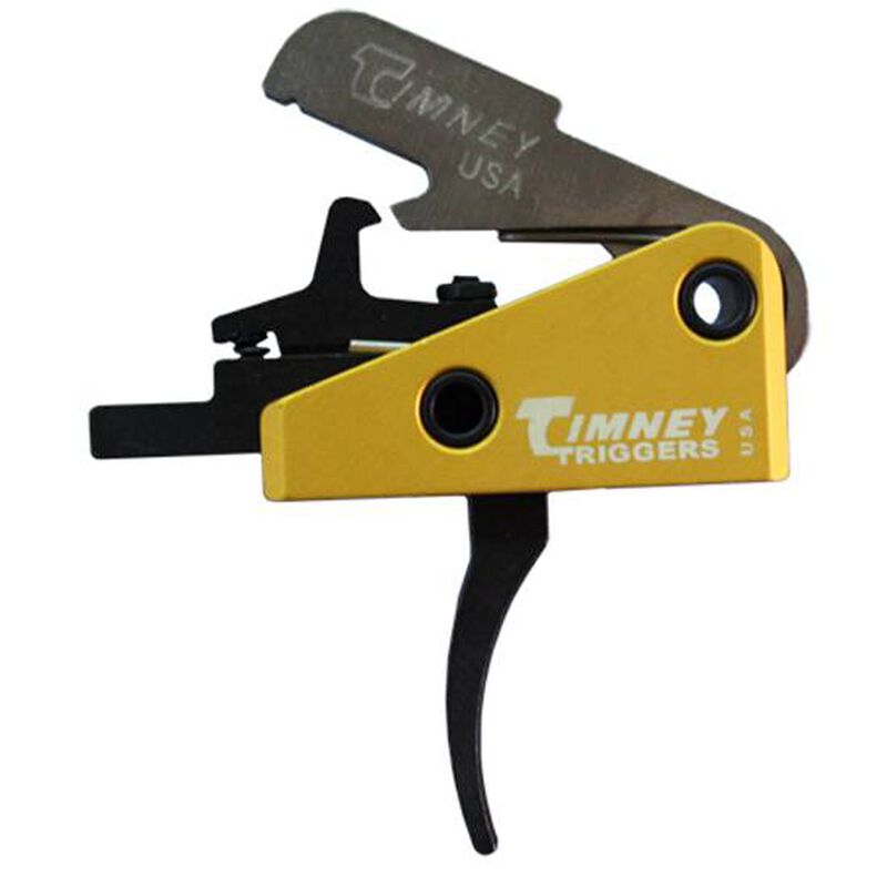 """Timney Trigger for AR-15 Rifles Large Pin .174"""" Diameter 3 LB Single Stage Solid Trigger Shoe Complete Drop In Aluminum Yellow 667L"""