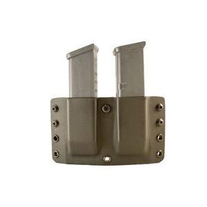"Comp-Tac Twin Warrior Magazine Pouch IWB/OWB Belt Slide CZ P07/09 Ruger SR9 and Similar Magazines 1.5"" Belt Size 12 Ambidextrous Kydex FDE"