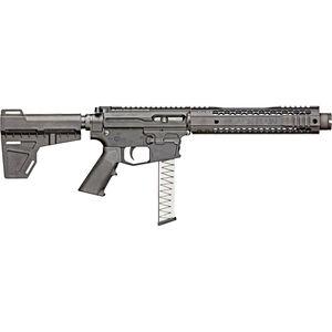 "Black Rain BRO FalloutCQB - Standard Issue 9mm Luger AR Style Semi Auto Pistol 8.75"" Barrel 30 Rounds M-LOK Hybrid Handguard Shockwave Blade Pistol Brace Black"