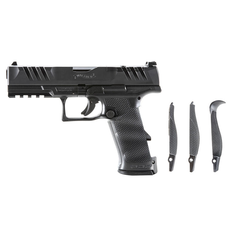 """Walther PDP 9mm Luger Semi Auto Pistol 4.5"""" Barrel 18 Rounds Optics Ready Polymer Black"""