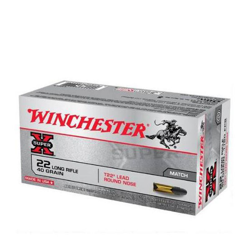 Winchester Super X .22LR Match Ammunition 40 Grain T22 LRN 1150 fps