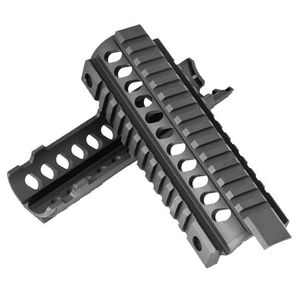 Mission First Tactical AR-15 Tekko Two Piece Drop In Quad Rail Handguard Aluminum Black TMARCIRS