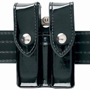 "Safariland Model 72 Magazine/Cuff Pouch Top Flap 2.25"" Belt Loop Glock/H&K/S&W/Springfield Ambidextrous Plain Black 72-83-2B"