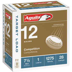 "Aguila Competition Target 12 Gauge Ammunition 25 Rounds 2-3/4"" #7.5 Lead 1oz 1200fps"