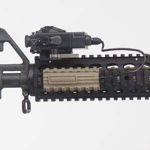 "Manta Micro Pocket Switch Holder with Button 2.75"" Picatinny Rail Cover Wire Management Synthetic FDE M1031"