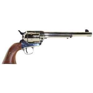 """Standard Manufacturing .45 Long Colt Single Action Revolver 7.5"""" Barrel 6 Rounds Fixed Sights Two Piece Grip Nickel Finish"""