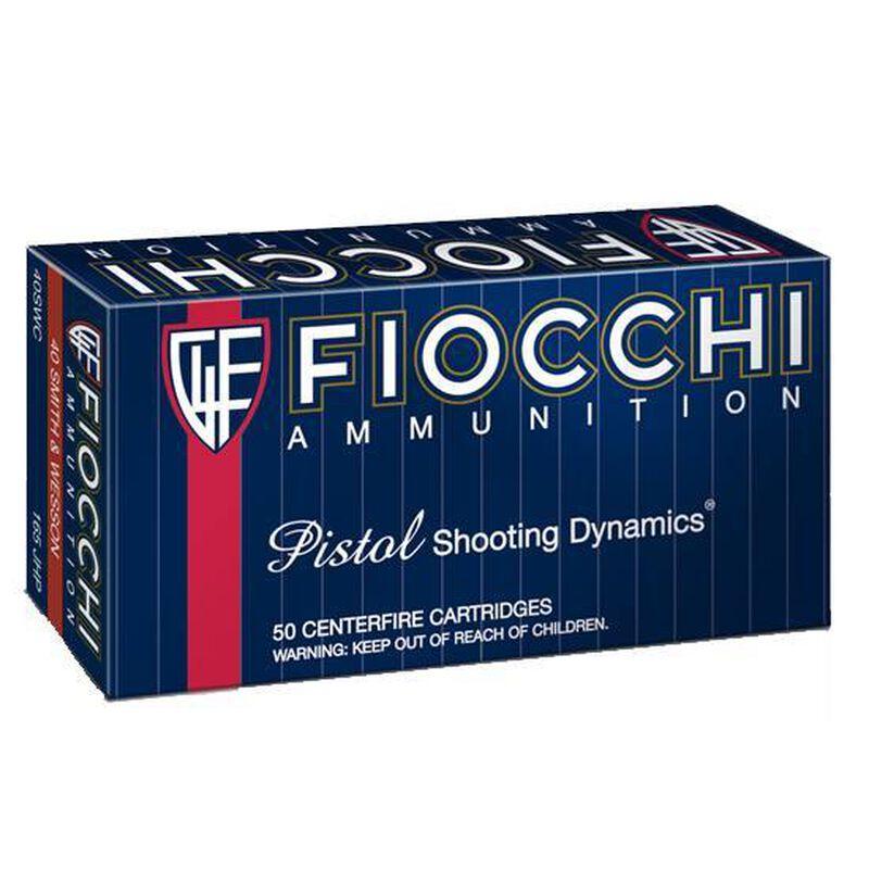 Fiocchi .40 S&W 165 Grain JHP 50 Round Box 1100 fps