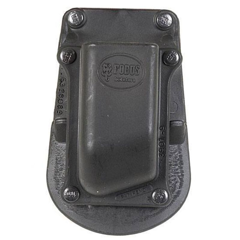 Fobus Single Magazine Pouch 1911 .45 ACP Single Stack Magazines Right Hand Paddle Attachment Polymer Black