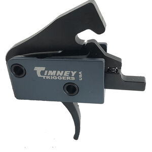 Timney Triggers Impact AR Trigger Drop In Mil-Spec AR-15's 3-4lb Pull Weight Single Stage Non-Adjustable Curved Trigger Shoe Gray/Black