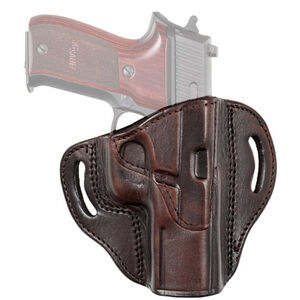 Tagua Gunleather TX1836 Cannon S&W M&P Shield and Most Single Stack Compact Pistols Belt Slide Holster Right Hand Leather Brown