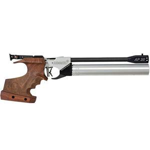 Hammerli AP20 PRO .177 Pellet Single Shot PCP Air Pistol Wood Grip Black/Stainless Finish