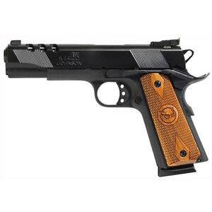 "Iver Johnson Eagle Ported 1911A1 Full Size Semi Auto Handgun .45 ACP 5"" Barrel 8 Rounds Ported Barrel and Slide Walnut Grips Blued Finish"